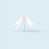 Pavillon étoile, blanc