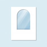 Cloison Hexagon, blanche, avec fenêtre, sans impression