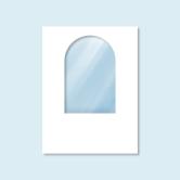 Cloison blanche Hexagon - avec fenêtre