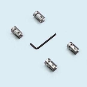 Pinces inox pour câbles murs / plafonds