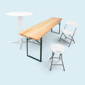 Tables, Bancs, Chaises & Tabourets pliables