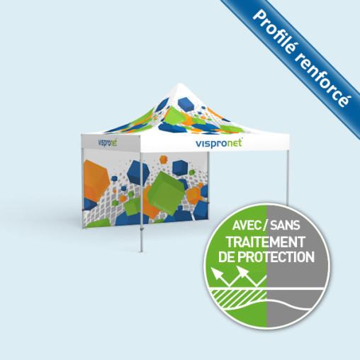 Tente pliante Select 4 x 4 m, imprimée, avec 1 cloison