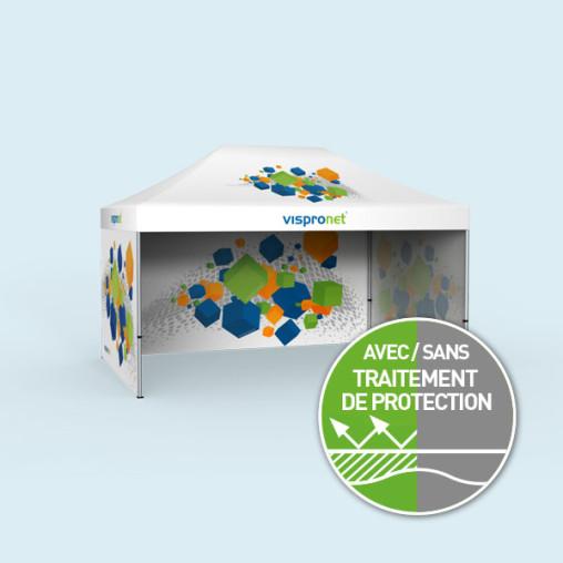 Pavillon pliable Select 3 x 4,5 m avec 3 parois pleines (1 visuel à l'intérieur)