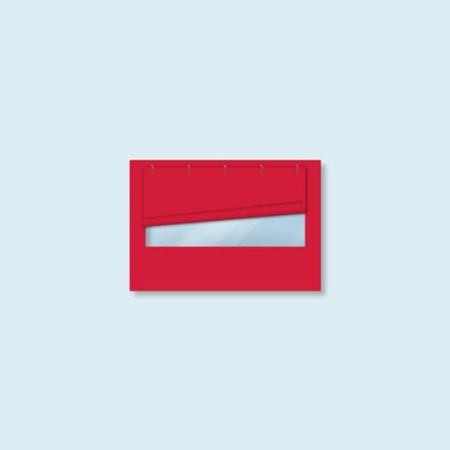 Cloison, fenêtre panoramique - Eco, Basic & Select 3 m, 4 couleurs standard