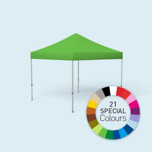 Pavillon pliable Select, 3 x 3 m, imprimé en couleur spéciale, vert