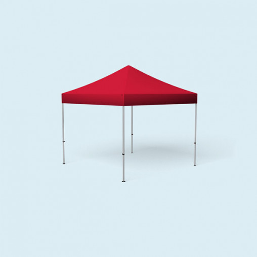 Pavillon pliable Basic, 3 x 3 m, rouge