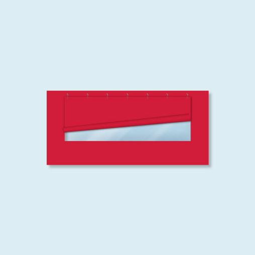 Paroi avec 1 fenêtre panoramique pour tente pliante Basic/ Select - rouge