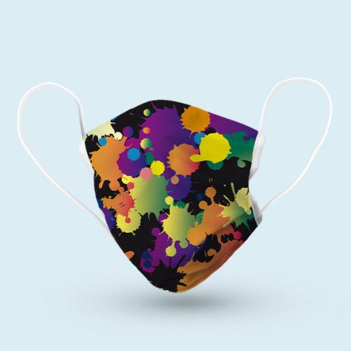 Masque barrière réutilisable - motif multicolore