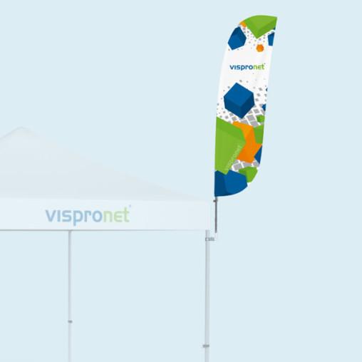 Bowflag® Basic à bord convexe, imprimé, ex.: taille S