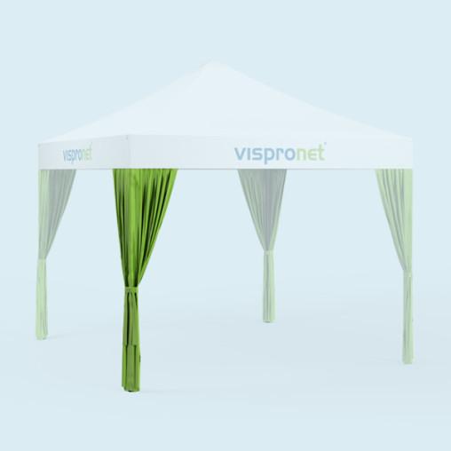 Rideau de pavillon - vert tilleul - livrable en 19 autres couleurs, non imprimé