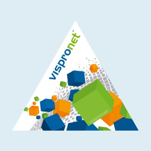 Autocollant triangle, pointe en haut