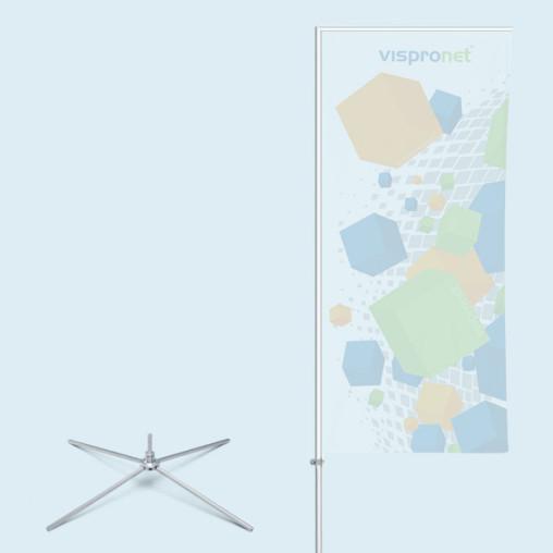 Mât Economy avec pied cruciforme & axe rotatif, ø 100 cm/3,1 kg