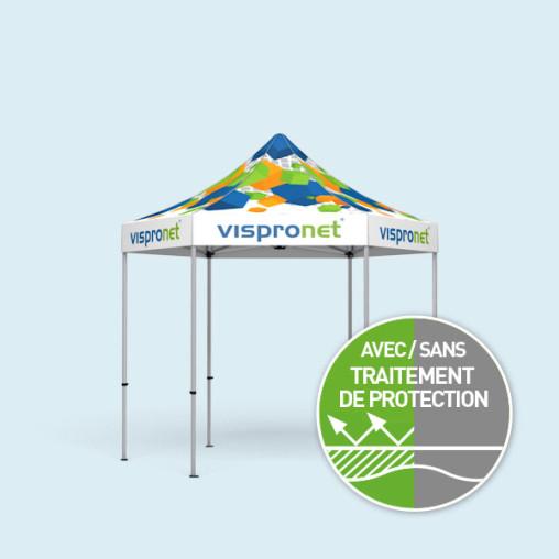 Pavillon Select Hexagon 3 m, pliable, toit et volants imprimés