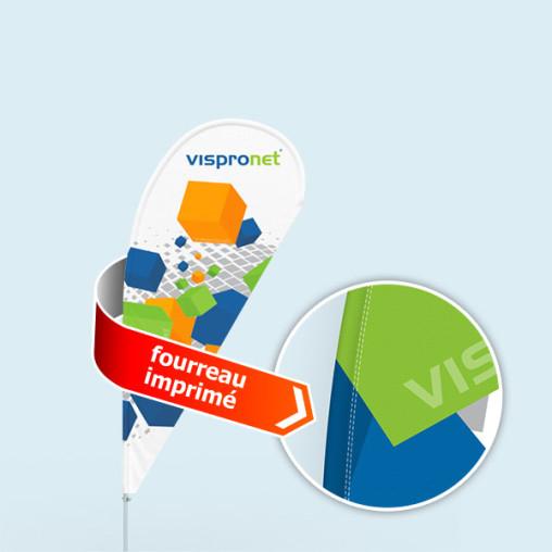 Bowflag® Select Goutte, fourreau imprimé - env. 10 % de visuel en plus