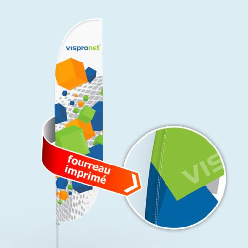 Bowflag® Select, bord concave - 10 % de surface imprimable en plus