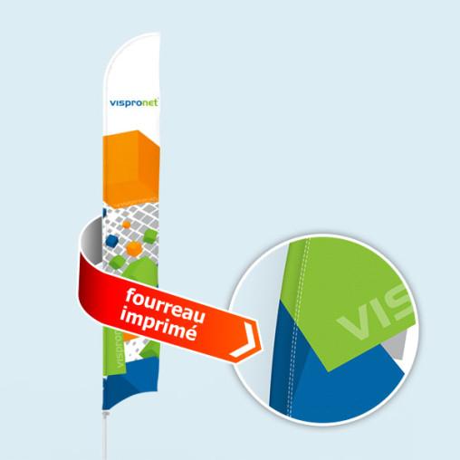 Bowflag® Select Tube, concave, fourreau imprimé = 10% d'affichage en plus