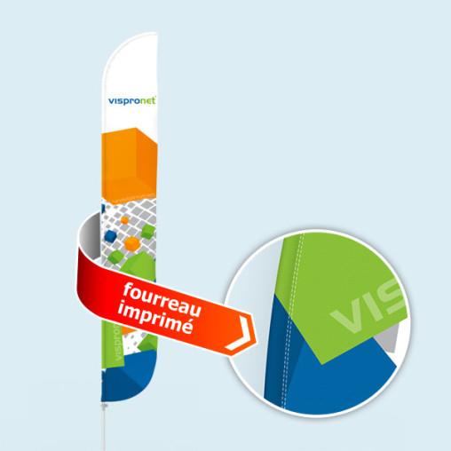 Bowflag® Select Tube, convexe, fourreau imprimé = 10% d'affichage en plus