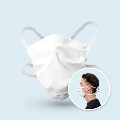 Masque de protection à plis en 100 % coton - s'adapte à la forme du visage