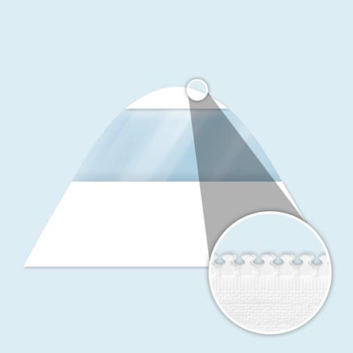 Paroi tente étoile avec fenêtre panoramique, blanche