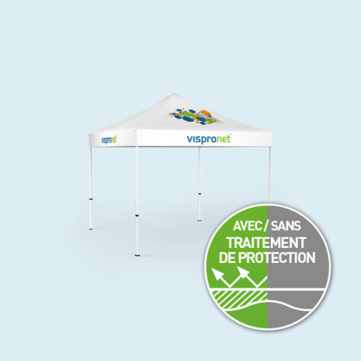 Pavillon pliable Select 3 x 3 m, toit & volant imprimé, sans parois