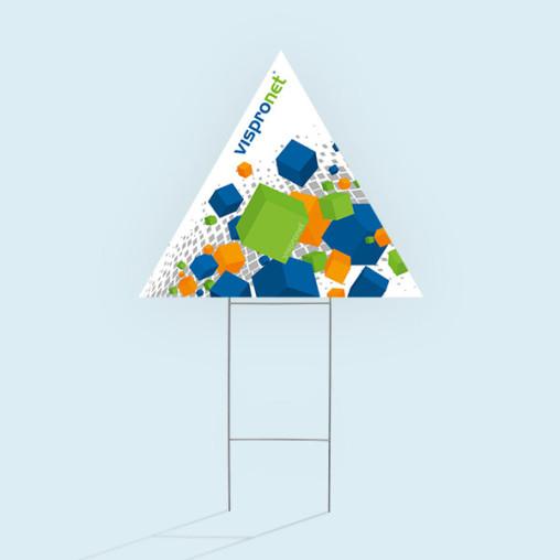 Panneau de jardin triangulaire, pointe en haut
