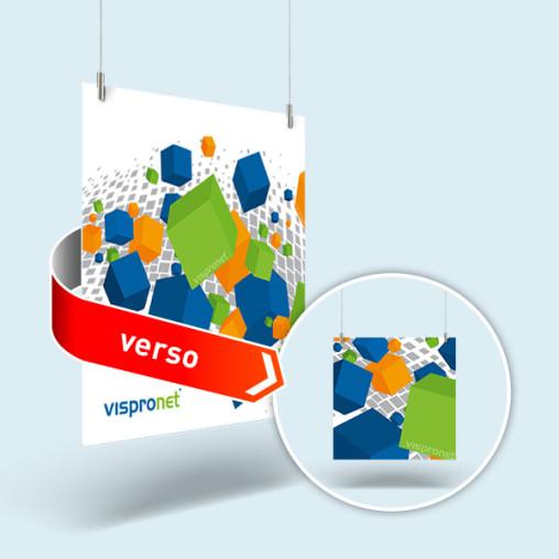 Panneau publicitaire en mousse PVC rigide, carré, imprimé recto-verso
