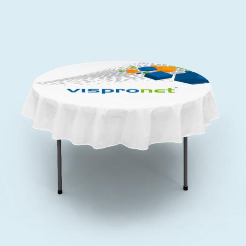 Nappe courte pour table pliante ronde assortie