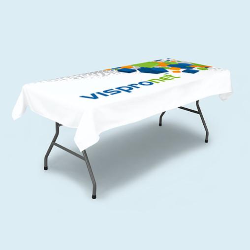 Nappe courte pour table pliante rectangulaire