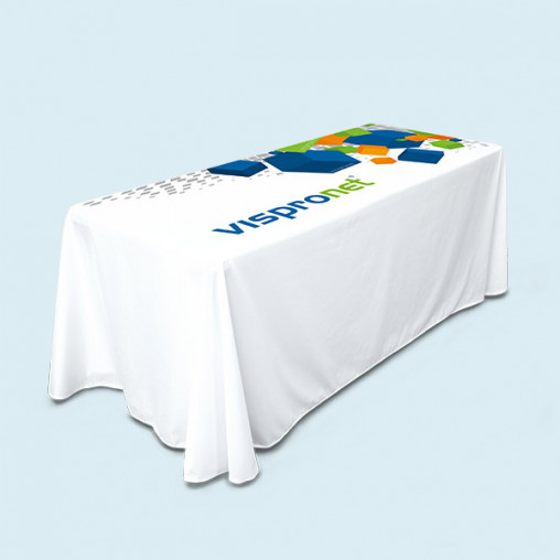 Nappe longue pour table pliante rectangulaire