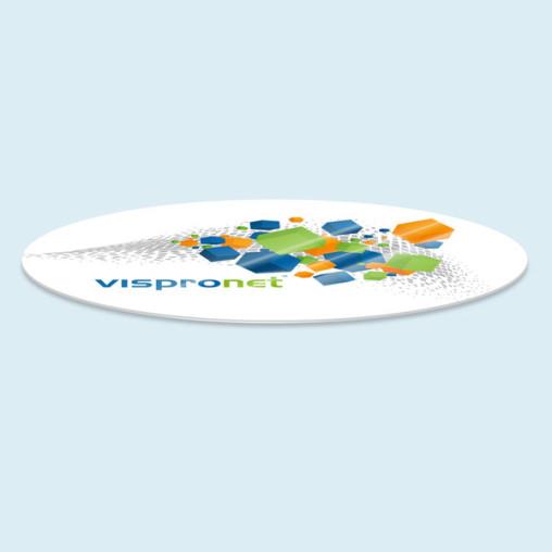 Plaque de protection pour table - ovale, jusque 200 x 300 cm (l x L)