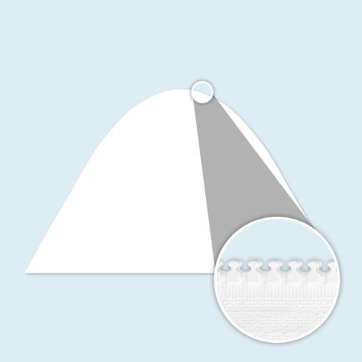 Cloison pleine pour tente étoile, blanche, sans impression