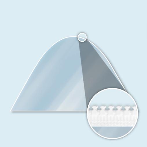 Paroi transparente pleine pour tente étoile avec fermetures éclair