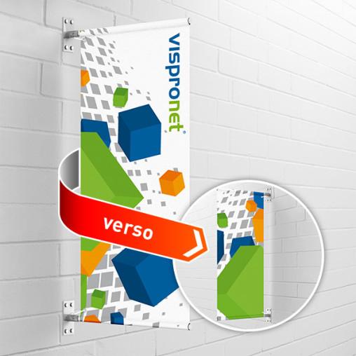 Street Banner Select à montage mural, imprimé sur les deux faces