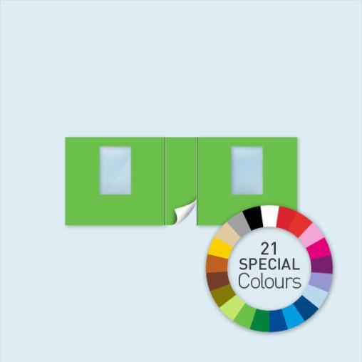 Paroi avec 1 porte centrale + 2 fenêtres Select 600 x 220 cm - disponible en 21 couleurs spéciales