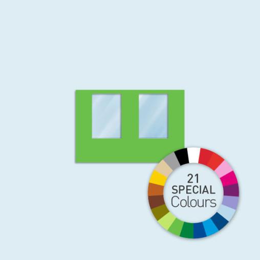 Cloison avec 2 fenêtres, 300 x 205 cm, Basic/ Select - 21 couleurs au choix