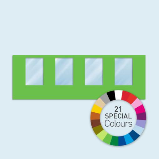 Cloison avec 4 fenêtres 600 x 205 cm Basic/ Select - 21 tons directs au choix