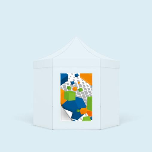 Bannière échangeable, format portrait, avec votre communication imprimée