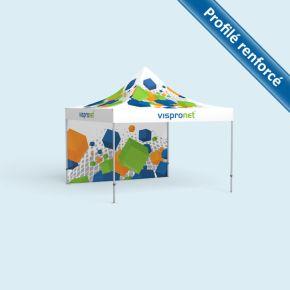 Tente pliable Select 4 x 4 m, imprimée, avec 1 paroi
