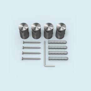 Entretoise fendue acier inox ø 15 mm/25 mm, ép. plaque 2-5mm, lot de 4