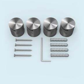 Entretoise fendue acier inox ø 25 mm/25 mm, ép. plaque 2-5 mm, lot de 4