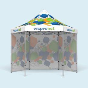 Tente pliable imprimée Select Hexagon 4 m, 3 parois pleines