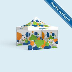 Tente pliante Select 4 x 4 m, imprimée, avec 3 parois
