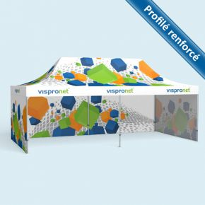 Tente pliable Select 4 x 8 m, imprimée - 3 cloisons