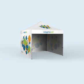 Tente pliable Basic 3 x 3 m, imprimée - 3 parois