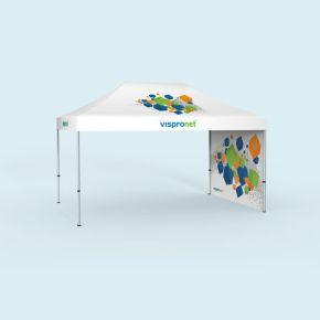 Tente pliable Select 3 x 4,5 m avec une paroi pleine, largeur 3 m (motif tourné vers l'intérieur)