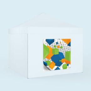 Bannière échangeable imprimée - format carré, pour cloisons de pavillon
