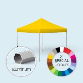 Pavillon pliable Select, 3 x 3 m, imprimé, jaune soleil