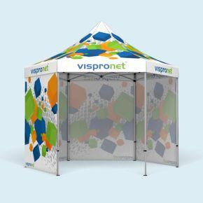 Tente pliable imprimée Select Hexagon 4 m, 4 parois pleines