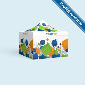 Tente pliable Select 4 x 4 m imprimée, avec 4 cloisons