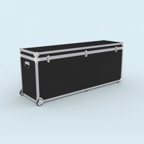 Trolley Box 168/66 - Malle à roulettes, volume utile : 40 x 61 x 162 cm